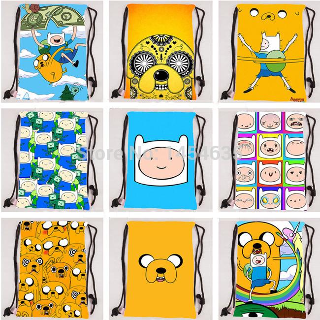 Hot Sale 1PCS Adventure Time Storage Bags Finn Boys Girls Jake Bags Children's Drawstring Backpack Kids Gift Free Shipping A198(China (Mainland))