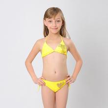 Solid Girls Bikinis Swimsuit