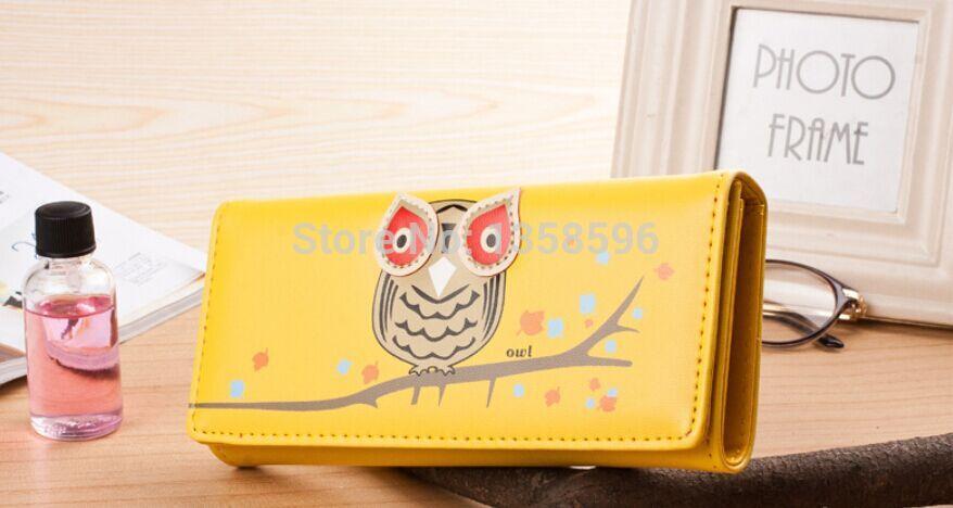 1937 popular owl wallet Cartoon cute lady wallet zero wallet(China (Mainland))