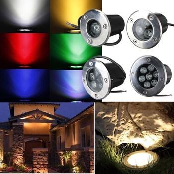5W LED Outdoor In Ground Garden Pool Fountain Spotlight Waterproof ...