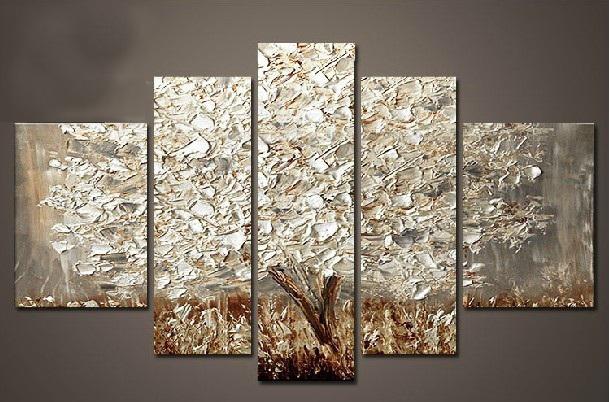 Achetez en gros peintures arbre d 39 automne en ligne des for Peinture a lhuile couleur argent