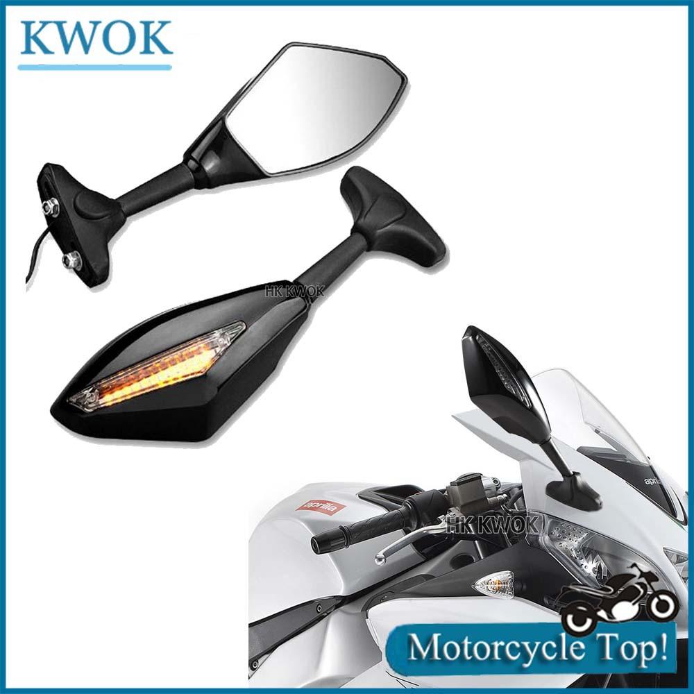 Motorcycle LED Turn Signal Lights Indicators Rear View Side Racing Rearview Mirrors For Kawasaki For Yamaha YZF R1 R6 R6S(China (Mainland))