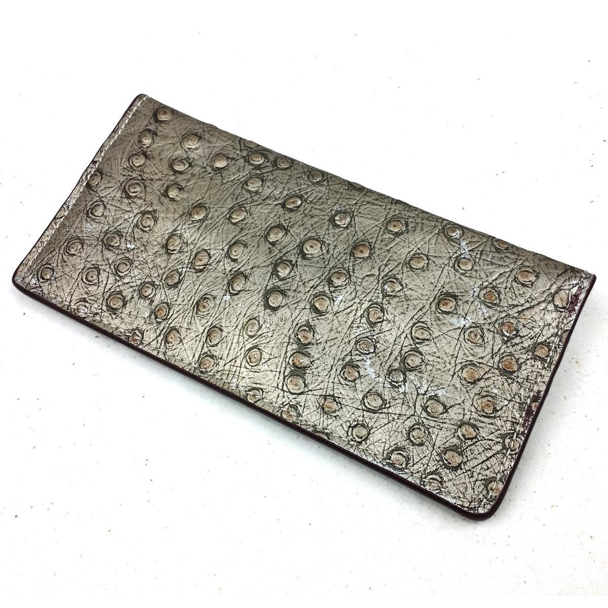 Ostrich Wallet With Money Clip Wallet/money Clip/wallet