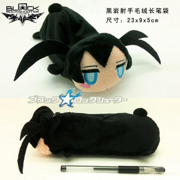 Anime BlackRock Shooter Figures Plush Doll Pen Bag School Supplies Pencil Case bag(China (Mainland))