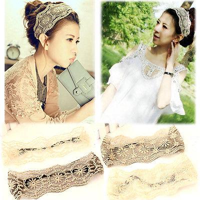 2015 Retro Knitted Flower Headband Women Lace Hairpin Crochet Hairband Headwrap(China (Mainland))