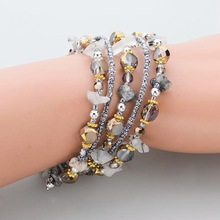 2015 Hot Sales Vintage Bracelets Bangles Silver Plated Cuff Love Bracelet For Women Jewelry With Natural