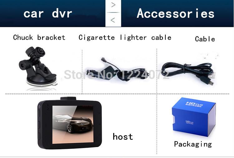 2.4 inch led display manual car camera hd DVR Free shipping(China (Mainland))