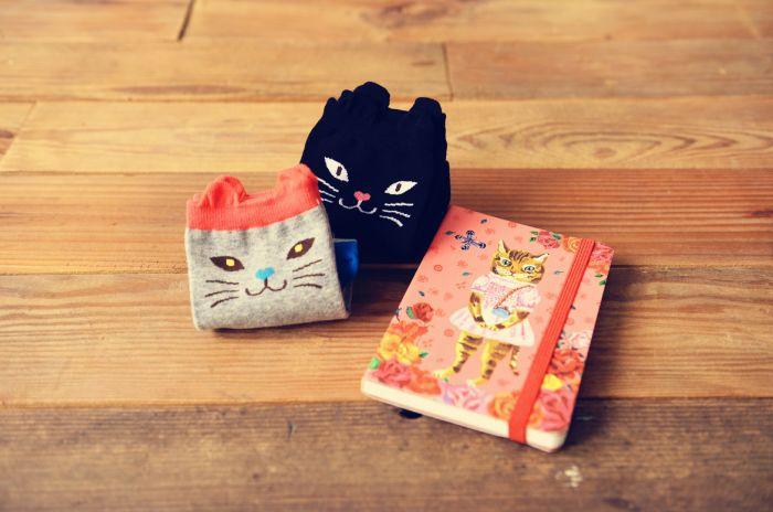 groothandel 2015 japans harajuku caramella merk cartoon kat liefhebbers katoen vrouwen enkelsokken chausette femme calcetines meias(China (Mainland))
