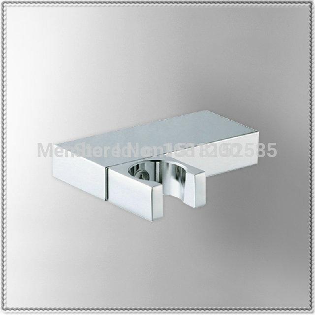 Chromed Brass Hand Shower Holder 360 degree rotate Wall Mounted Hand Shower Bracket Hook Bath Shower Accessories waterfall glass(China (Mainland))
