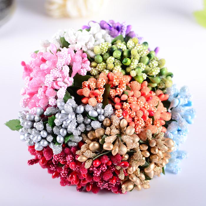 Pearl Artificial Flowers Stamen / Wedding Favor Box Decor 144pcs/lot Beads Flower Diy Handmade Flowers Wedding Supplies Flower(China (Mainland))