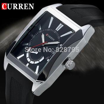 2015 новый люксовый бренд Curren мужчины часы мужской часы мода свободного покроя мужчины кварцевые часы дата рук наручные часы