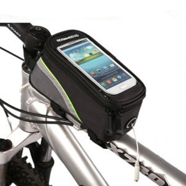 Bicycle Bag Cycling Front Frame Bag Waterproof Tube Cycling Mountain Touchscreen Phone Case Reflective Bike Bag(China (Mainland))