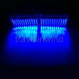 2X48 LED Truck Car Flashing Strobe Light Blue Grill Dash Lamp Traffic Warning Light(China (Mainland))