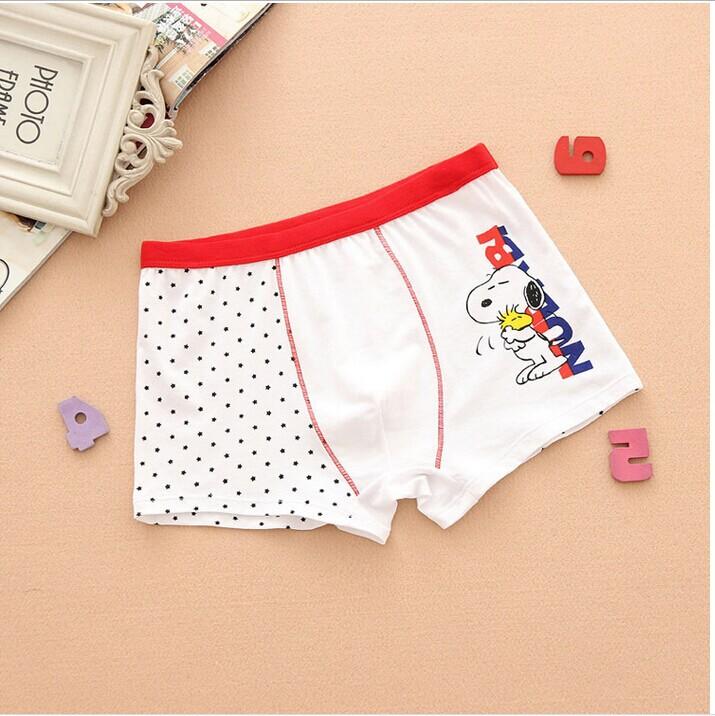 brand High-quality 4pcs/lot Children's underwear 10-18 years old big boys cotton underwear briefs cartoon boxer kids N1054(China (Mainland))