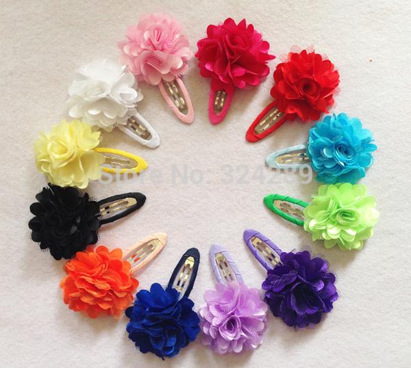 2pcs Baby Girls Hair Clip Band Hairpins Toddler Kids Flower Pumpkin Fashion Gift 6 Colors hair accessories(China (Mainland))