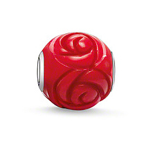 Free shipping Fashion Unique DIY Jewelry Loose Ball Red Charm Beads fit for European pandora Bracelets