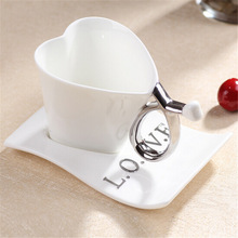 Mug 2015 creative ceramic cup Continental loving cup coffee mugs suit Fashion lovers cup with dish