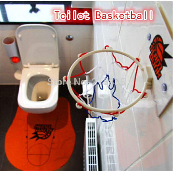NEW excisting Toilet Bathroom Mini Basketball Fun Game funny gadgets-Perfect Gift for Basketball Lovers Free shipping(China (Mainland))