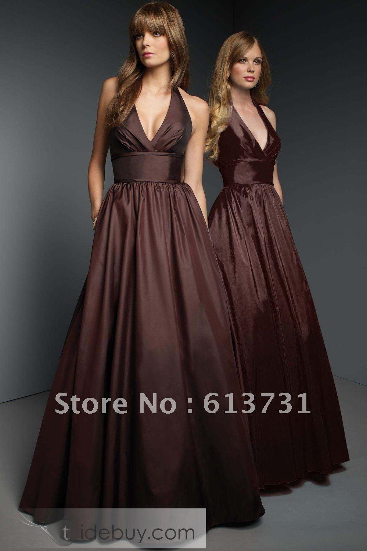 Pink And Brown Bridesmaid Dresses