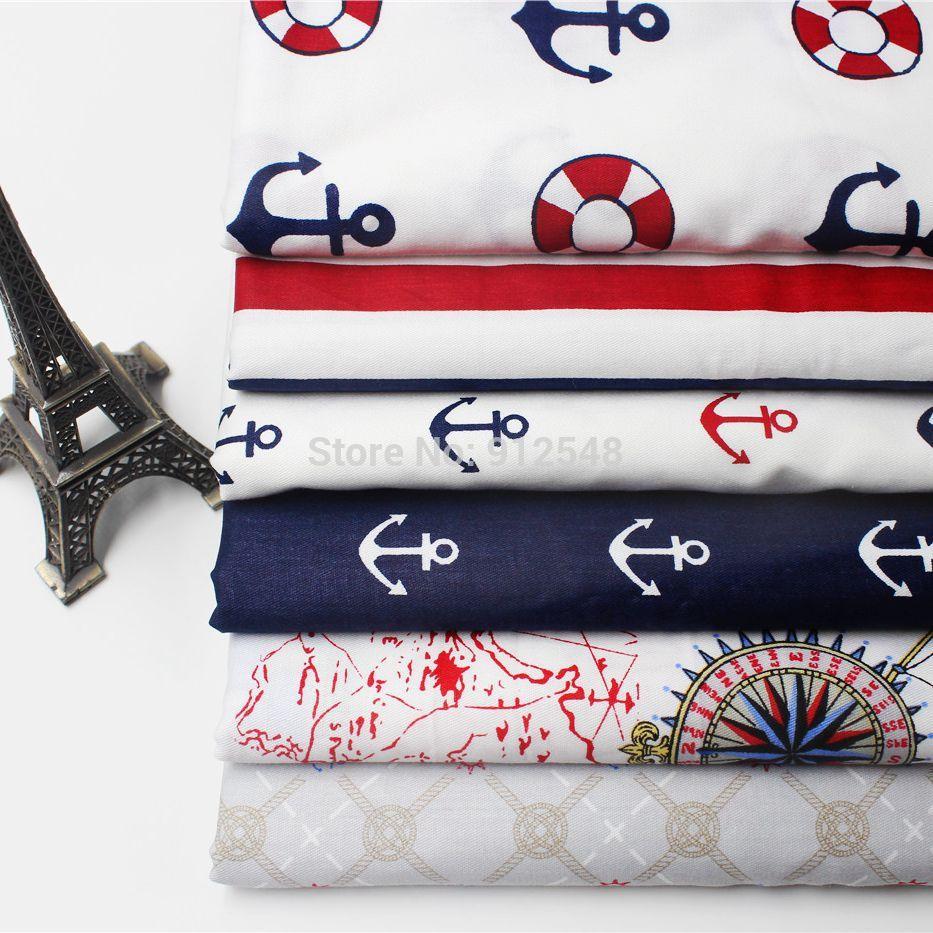 154382 ,50cm*50cm Ocean Series cotton fabric,diy handmade patchwork cotton cloth home textile(China (Mainland))