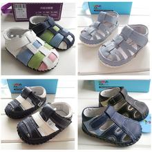 Antiscivolo bambino del bambino scarpe 2015 estate nuovi sandali del bambino ragazze ragazzi sandali di cuoio genuino ragazze primi camminatori  (China (Mainland))