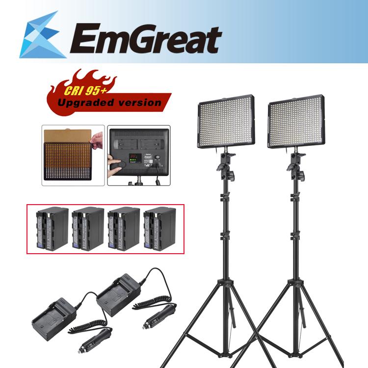 Aputure Amaran AL-528W + AL-528S LED Video Studio Camera Light kit +Battery Pack for Sony NP-F960 + Charge + Light Stand(China (Mainland))