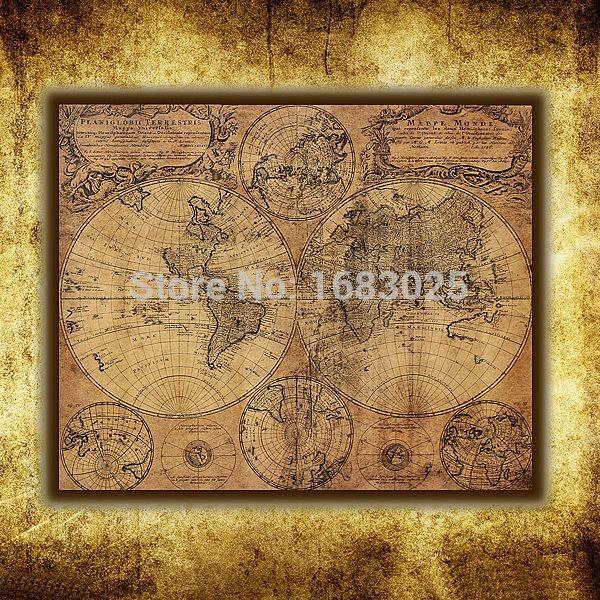 Online kopen wholesale wereldkaart poster uit china wereldkaart poster groothandel - Vintage bank thuis van de wereld ...
