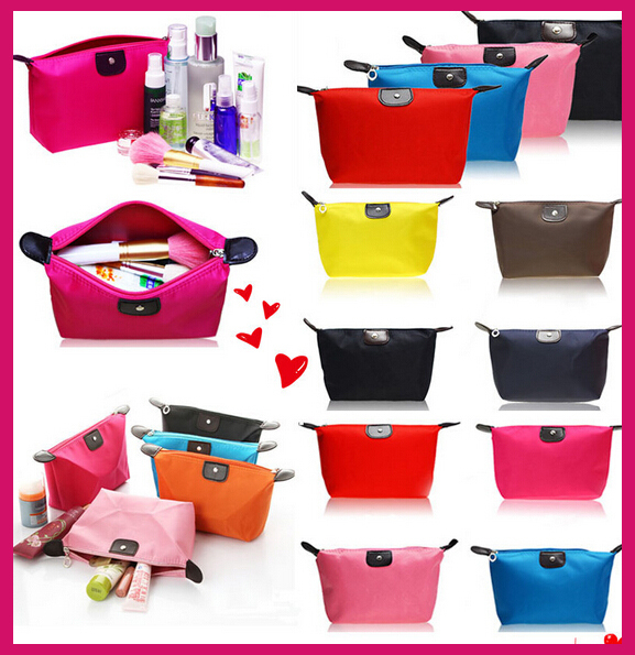 9 Colors High Quality Lady MakeUp Pouch Cosmetic Make Up Bag Clutch Hanging Toiletries Travel Kit Jewelry Organizer Casual Purse(China (Mainland))