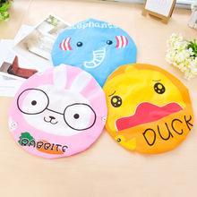 3 Colors Bathroom Accessories Cartoon Shower Caps Women Girls PVC 2015 New Hot Sale M004(China (Mainland))
