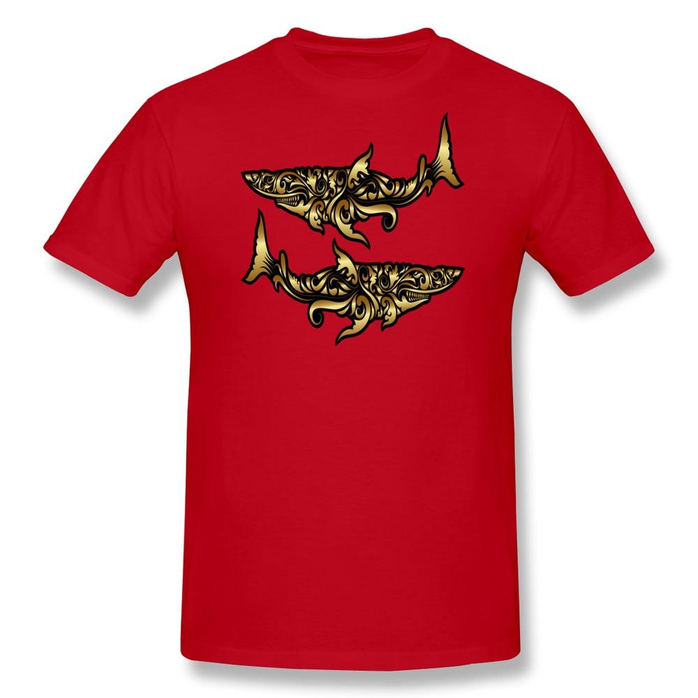 2015 Fashion camiseta rock Golden Sharks Ornament o collar gentleman idea shirts for gentleman(China (Mainland))