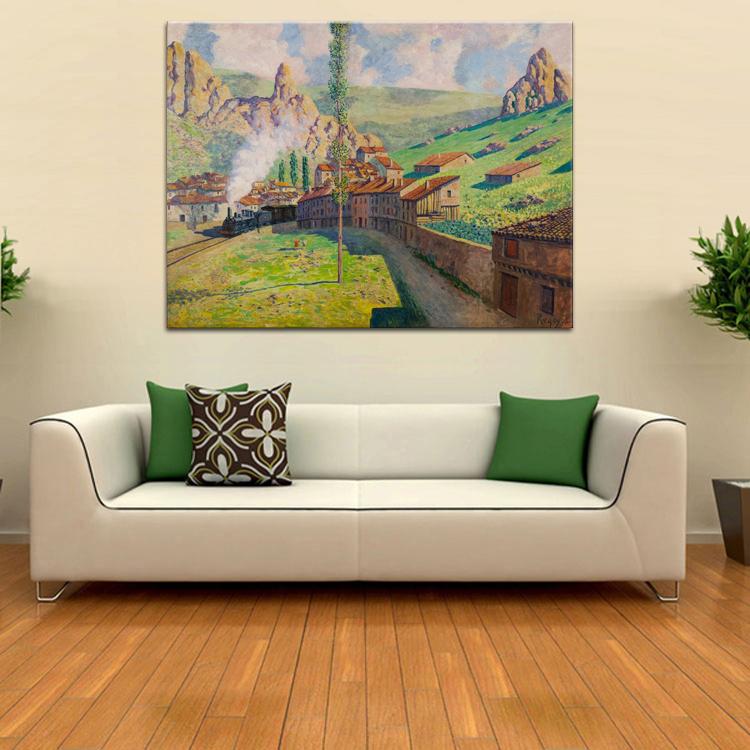 Trein schilderij promotie winkel voor promoties trein schilderij op - Decoratie schilderij gang ...