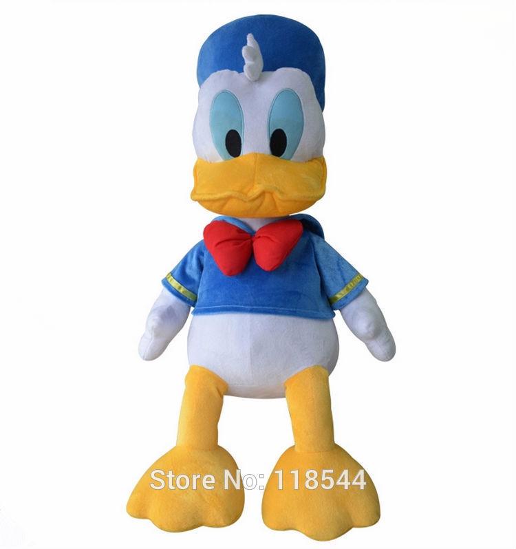 35cm stuffed Donald Duck /High quality Donald Duck Plush Stuffed toys /stuffed Mickey mouse Plush Toys one piece free shipping(China (Mainland))