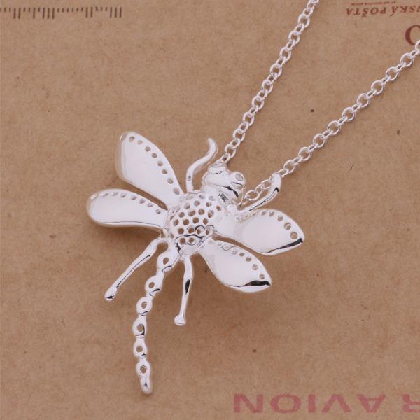 Free Shipping 925 Silver Necklaces & Pendants Fashion Silver Jewelry dragonfly /axtajpaa ejtanbaa AN366(China (Mainland))