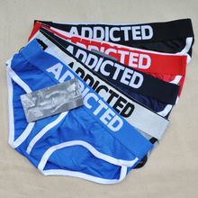 sexy low waist lycar Addicted Cotton mans briefs High quality brand fashion underwear low rise calzoncillos U panties underpants(China (Mainland))