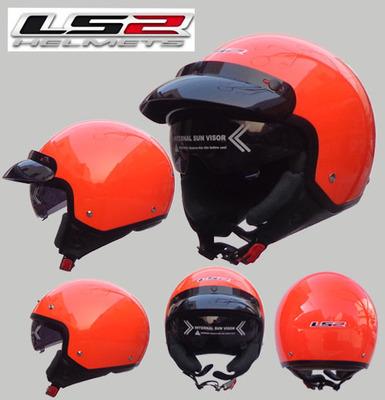 Free shipping LS2 OF561 vintage motorcycle electric car warm winter safety helmet half helmet / orange(China (Mainland))