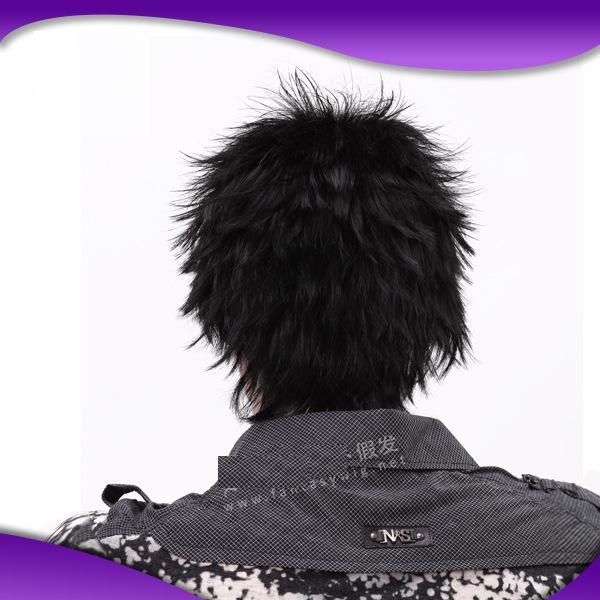 Мода мужская парик корейский короткий парик кудри и красивый мужской парик бразильский девственные волосы парик шнурка человеческих волос
