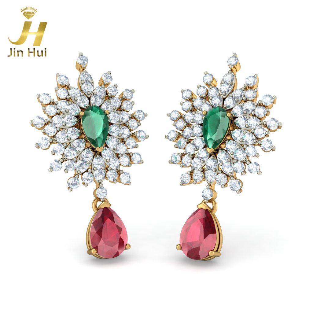 Jin Hui Jinhui 18K 750 0.968ct JH-BS2599 jinhui dhwani 18k 750 0 08 jh bs4576