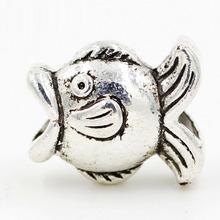 1pcs Retail Top Quality DIY Fish European Silve 925 Beads Big Hole Bead Fits Charm Bracelets Necklaces Pendants Pand JPB06