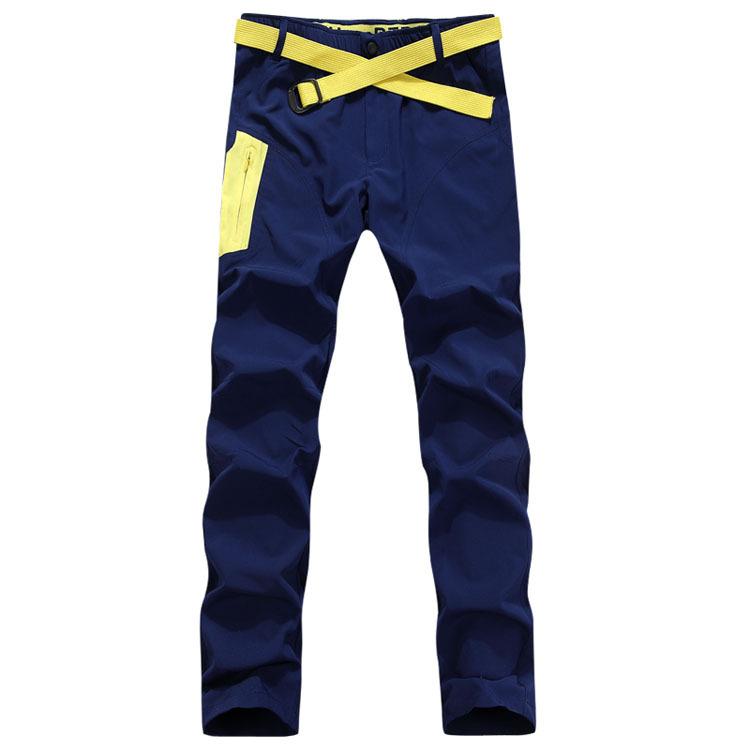 Dropshipping 2015 Casual Outdoors Sports Pants Male Running Climbing Bicycling Pants Elastic Soft summer breathable pants men(China (Mainland))