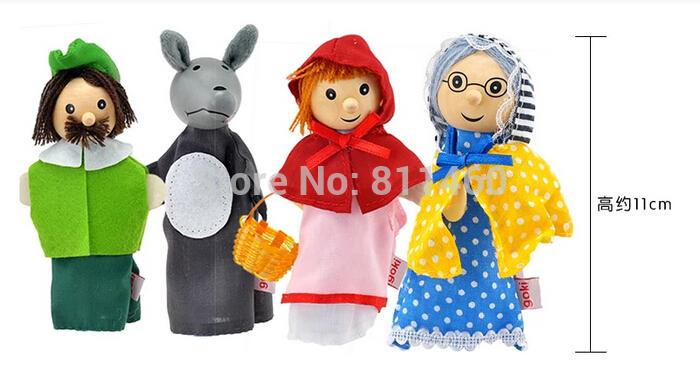 Lupo grigio marionette da dito per bambini giocattoli educativi