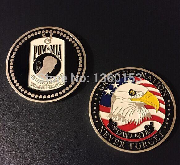 American gold coin POW , 20pcs/lot american Pow Mia coin coin