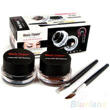 2Pcs/lot Waterproof Cosmetics Tools Eye Liner Makeup Eye Brush Gel Eyeliner