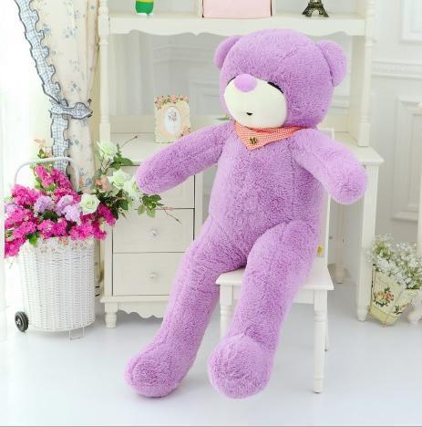 Giant stuffed teddy bear 140cm cute bowknot sleeping large teddy bear coat shell stuffed animals soft big plush toy wedding gift(China (Mainland))
