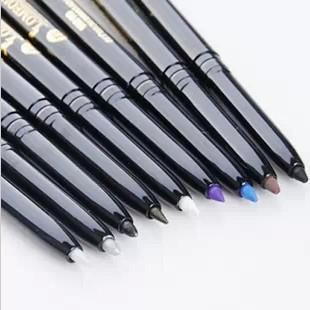 Complete set 9 colors Eye make up black eyeliner delineador pencil pen eyeliner lapis olho- black eyeliner pen eyeliner(China (Mainland))
