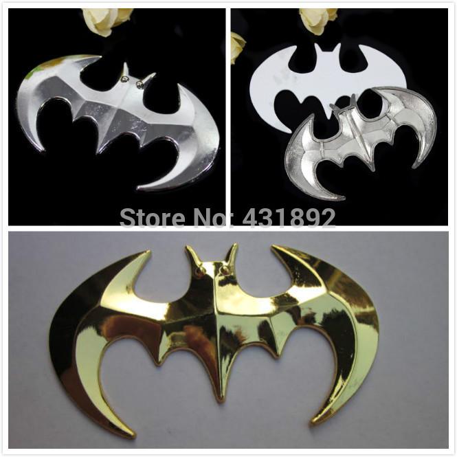 2pcs BatMan Car Sticker,3D metal decals,Auto labels,decorative parts,Chrome Badge Emblem Wholesale(China (Mainland))