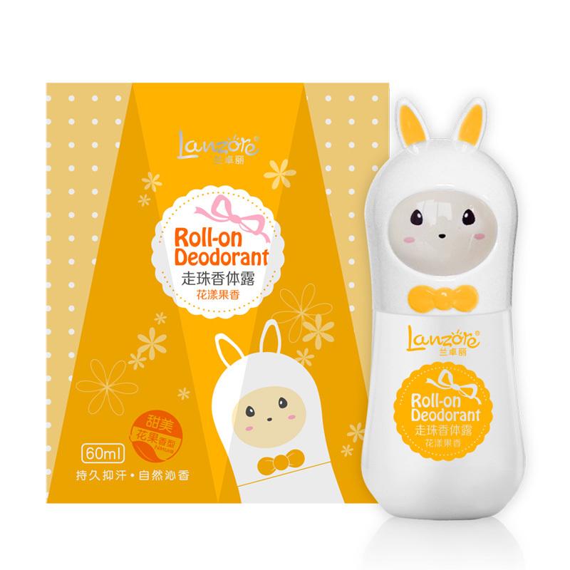 60ML Rabbit Roll-on Deodorant, Fruit Flavor Fragrance Perfume Original Brand For Women, Cute Animal Body Odour(China (Mainland))