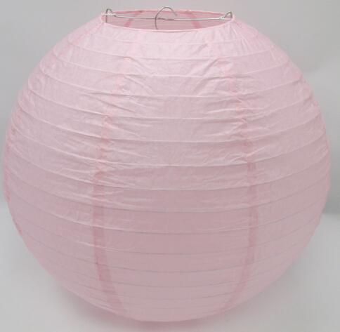 Free shipping 10pcs/lot 14'' (35cm) light pink Chocolate Round Paper Lantern easter wedding party decoration(China (Mainland))