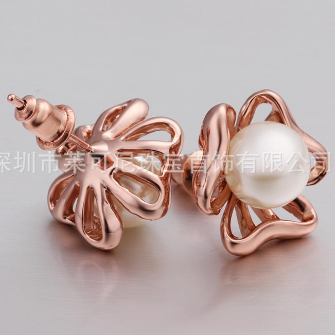 Pearl Stud Earrings Wholesale Plated Pearl Stud Earrings