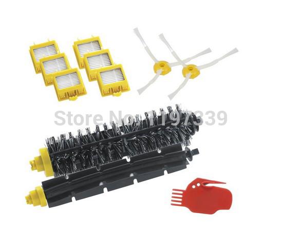 Hepa Filters Bristle Brush Flexible Beater Brush 3-Armed Side Brush Cleaning Tool For iRobot Roomba 700 Series 760 770 780(China (Mainland))