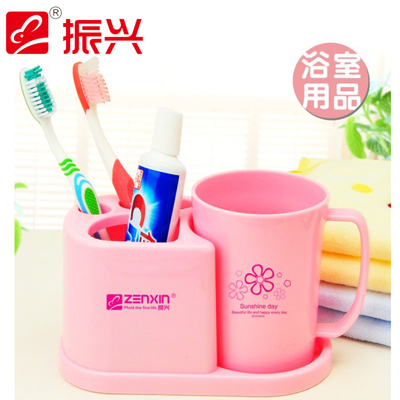 Three-piece Plastic Bathroom Set Products Tooth Paste Toothbrush Holder Wall Accessories Bathroom Sets(China (Mainland))